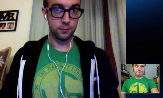 Matt and Brett are wearing the same T-shirt.